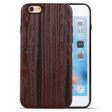 Le téléphone mobile intelligent de configuration de 2017 coutumes de PC d'unité centrale en bois couvre le point de droit pour l'iPhone 7