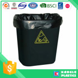Extremadamente fuerte LLDPE Bolsa de basura negra resistente