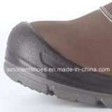 Sapatas de segurança de couro Snn409 de Nubuck da alta qualidade