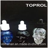 Glasflasche des blauen freien Schädel-30ml mit kindersicherer Schutzkappe und dünnem Tropfenzähler in China