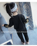 Одежды спортов и отдыха 2-Piece детей черные