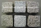 China Natural Tumbled Granite Cobblestone Pavers para o pátio, Driveway, jardim