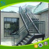 Escaliers en acier galvanisés chauds extérieurs de fer résidentiel