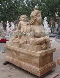 Скульптура мрамора статуи сада каменная с высеканным камнем (SY-X1118)