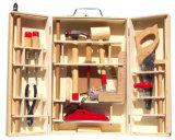 Caixa de ferramentas de madeira de madeira de brinquedo - 31 PCS