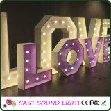Lumière de mariage de signe de lettre d'amour de DEL/mariage de fantaisie de décoration