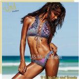 Blume gedruckter brasilianische Frauen-reizvoller fälliger Frauen-Bikini