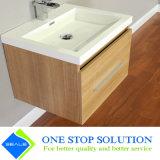 Отделки цвета меламина тщета ванной комнаты Countertop деревянной керамическая