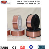 Alambre de soldadura revestido del cobre sólido de Shandong