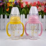120ml ancho cuello de la botella de cristal de diamante de cristal de bebé