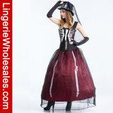 여자를 위한 흡혈귀 유령 신부 Halloween 공상 복장 Cosplay 성숙한 고딕 복장