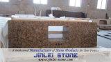 Natuurlijke Countertops van de Ijdelheid van het Graniet van de Steen Gele voor Keuken