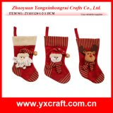 クリスマスのギフトのホールダーのクリスマスのストッキングの注入口のクリスマスのソックスのハンドメイドのギフトの靴の装飾