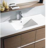 Mobilia calda della stanza da bagno della superficie della melammina del MDF di vendita con lo specchio (SW-ML1202)
