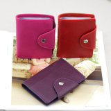 Nueva PU Leather Credit Card Holder de la manera 2016