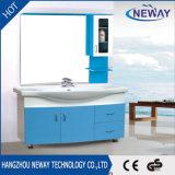 Ванная комната шкафа зеркала блока тазика PVC просто конструкции керамическая