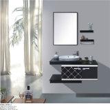 An der Wand befestigte keramische Bassin-Edelstahl-Hotel-Möbel mit Spiegel