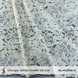 Tela italiana de renda de cordão de alta qualidade para vestidos (M3404-G)