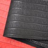 Cuoio di pattino rosso impresso disegno della borsa del sacchetto dell'unità di elaborazione dello Synthetic dell'annata