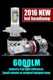 Mini farol super do diodo emissor de luz do poder superior do carro 6000lm