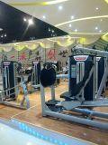 Máquina derecha de la gimnasia del ejercicio de la extensión de la pierna