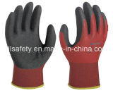 Gant de travail tricoté par nylon avec le plongement de nitriles de Sandy (N1590)