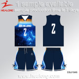 Healong passte Entwurfs-Sublimation-Basketball Jersey an