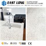 Слябы камня кварца вены высокой ранга белые мраморный для верхних частей тщеты/проектированных с Polished поверхностью