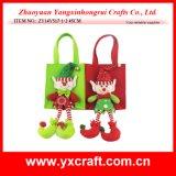Decoración festiva del duende de la Navidad del bolso del regalo del duende de la Navidad de la decoración de la Navidad (ZY14Y517-1-2)