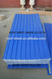 Hoja acanalada clara impermeable del material para techos