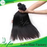 Cabelo cru peruano da alta qualidade para a peruca reta do cabelo humano