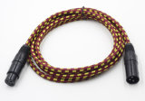 Nylon мужчина кабеля оболочки 3pin XLR к женщине для микрофона