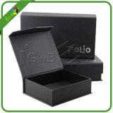 Contenitore di regalo magnetico nero all'ingrosso della chiusura con il nastro