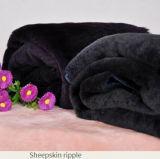 衣服のためのオーストラリアの羊皮材料水さざ波