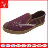 Chaussures plates de femmes de loisirs et chaussures occasionnelles de toile ordinaire d'hommes
