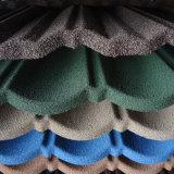Colorare le mattonelle di tetto rivestite di pietra del metallo