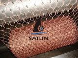 Fil de poulet hexagonal de compensation de lapin de PVC de Sailin
