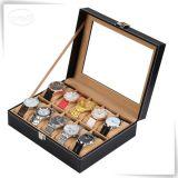 Mens de couro popular das caixas de relógio das caixas de armazenamento do relógio do couro do plutônio