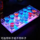 Soporte de visualización de acrílico modificado para requisitos particulares de la botella de la visualización de acrílico LED del vino del LED