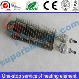 Élément de chauffe électrique sec à ailettes d'acier inoxydable
