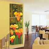 Der 3 Stück-heiße Verkaufs-blüht moderner Wand-Farbanstrich die Farbanstrich-Raum-Dekor-Wand-Kunst-Abbildung, die auf Segeltuch-Ausgangsdekoration Mc-222 angestrichen wird