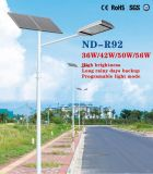 50W LED High Brightness Solar Street Light em Venda
