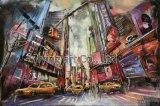 Ölgemälde-Kunst-Wand-Fall für Moodern Stadt