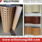 Panneau composé en aluminium de finissage en bois