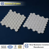 Tonerde Ceramic Hex Tile Pasted in Net/in Nylon als Wear Resisatnt Liner