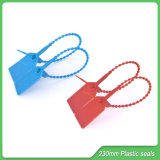 Carimbos de plástico Correia, 230 milímetros Lenght, Tag de segurança de plástico, Plástico Selos de Segurança