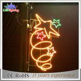 Luz colorida de suspensão do motivo do diodo emissor de luz da decoração da rua das estrelas de Pólo