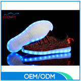 Zapatos ligeros de Flykint LED del alza 350 de Yeezy de los cabritos y de los adultos