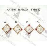 Ornamenti Handstitched della decorazione dell'albero del cuscino di festa del paese, 4asst