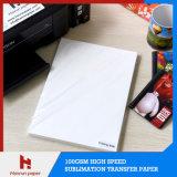 Papier de transfert à grande vitesse de sublimation de la taille 100GSM de la feuille A4 pour le tapis de souris, la tasse, la surface dure et les cadeaux